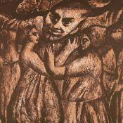 Ruddigkeit, Frank (1939 Grenzberg/Ostpreußen - tätig in Leipzig) Farblithografie von 2 Steinen auf