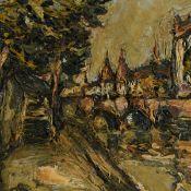 Rasmussen, Preben (1919 Kopenhagen - 1971) Öl/Hartfaser, Parisansicht mit Seine-Ufer, links unten