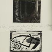 Lang, Christian (1953 Chemnitz - tätig ebd.) Paar Radierungen, Kleingrafik, unten in Blei vom