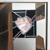 Brockhage, Hans (1925 Schwarzenberg - 2009 ebd.) Materialcollage aus Eichenholz, Farbglas und