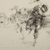 Rechn, Günther (1944 Lodz - tätig in Limberg/Cottbus und Grosseto/Italien) 2 Lithografien,