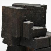 """Brockhage, Hans (1925 Schwarzenberg - 2009 ebd.) Skulptur, Eichenholz, """"Kubisches Rätsel"""", mit"""