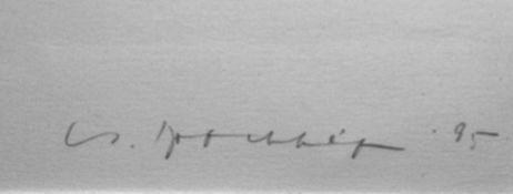 """Brockhage, Hans (1925 Schwarzenberg - 2009 ebd.) großformatiger Druck in Schwarz auf Bütten, """""""