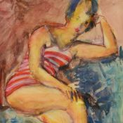 Dressler, August Wilhelm (1886 Bettelgrün/ Böhmen - 1970 Berlin) Aquarell/Papier, Porträt einer