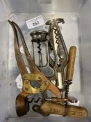Wine Collectables/Corkscrews: 19th cent. Wolverson patented Tangent Lover two piece corkscrew, early