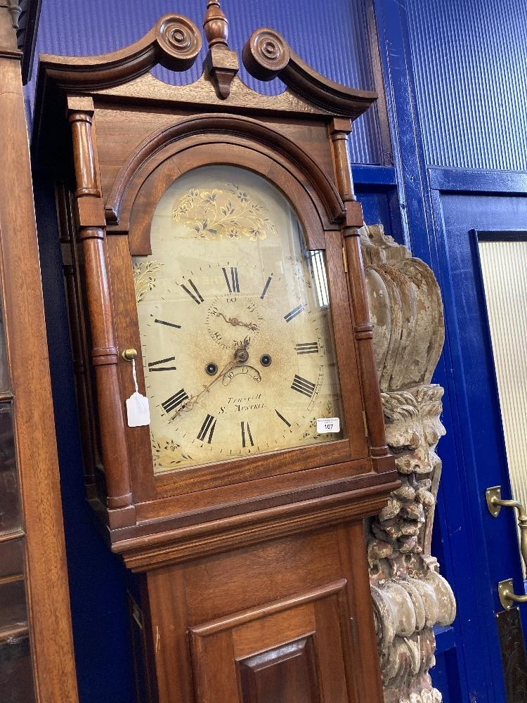 Clocks: Cornish longcase, 19th cent. Joshua Truscott of St. Austell eight day movement, with - Image 2 of 2