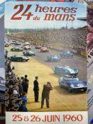 Motorsport: Le Mans 24 hour 1960 colour lithograph. 16ins. x 23ins.