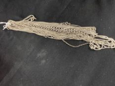 White Metal Jewellery: Thirteen necklets and two bracelets all test as silver, all stamped 925.