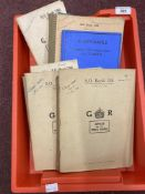 World War Two: Interesting archive of original construction notes and printed manuals relating to