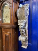 17th/18th cent. Continental carved Corbel Heraldic beast above floral embellishments. Approx. 40ins.