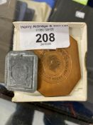 Stamps & Postal History: George I two pre-paid stamp duty plates for embossing official document