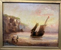 Henry Moore RA RWS (1831-1895): 'Summer Squall off Mare Head Cornwall' signed lower left, label on