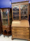 Late 18th/early 19th cent. Mahogany bureau bookcase with well appointed interior. 86½ins. x 40ins.