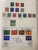 Stamps: Album containing mainly GB used and unused including 1840 SG7 1d black with black MC cancel,