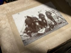 Photographs: 19th cent. and later, many studio cards, servants at work, military and Japanese social