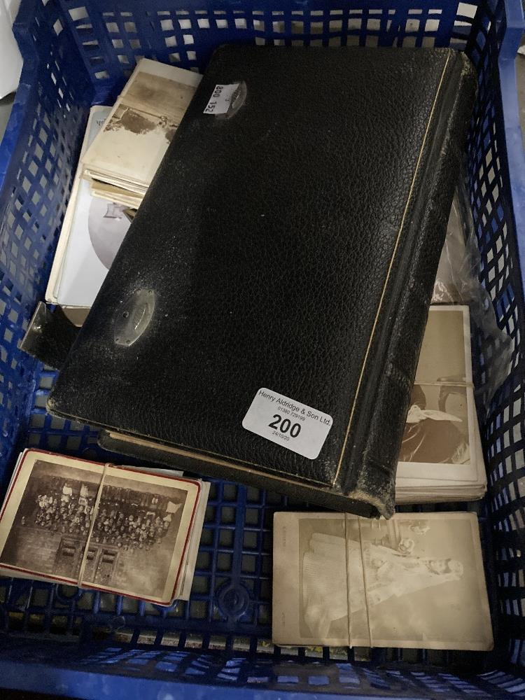 Photographs: Leather bound Victorian photo album containing a number of studio photographs, plus a