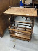 19th cent. Burr walnut Canterbury with galleried top. 24ins. x 29ins.