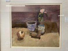 Christa GAA (1937-1992): Watercolour and gouache, 'A Still Life with Pomegranate', signed lower