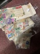 Stamps: Large selection of loose GB and Commonwealth stamps with a small quantity of rest of