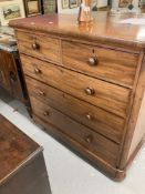 19th cent. Mahogany 2 over 3 chest of drawers, of good quality with mahogany drawer liners. 49½ins.