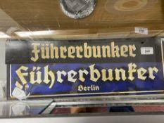 Militaria: Reproduction Fuhrerbunker signs (2).