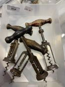 Wine Collectables/Corkscrews: Early 20th cent. German corkscrew with ball bearing race on stem,