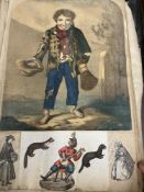 Ephemera: 19th cent. Scrap book mainly natural history, foreign peoples, sketches, and