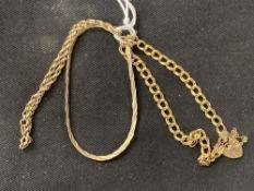 Hallmarked Jewellery: Three bracelets, two London import stamp, one hallmarked Birmingham. Total