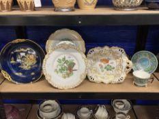 19th/20th cent. Ceramics: Coalport Heron plate, copy of a Pratt engraving Ltd Edition no. 122 of