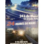 Motorsport: Le Mans 24 hour 1976 and 1979 colour promotional posters. 21ins. x 15ins.