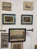 19th cent. Prints, illustrations, and coloured etchings, including William Daniell, rowing
