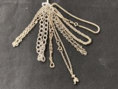 White Metal Jewellery: Six bracelets all test as silver, all stamped 925. Total weight 42·6g.