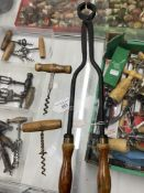 Wine Collectables/Corkscrews: Early 20th cent. Port tongs produced by Farrier & Jackson, iron and