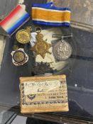 WWI Australia: WWI pair Private P.H. Brooks 4th Battalion Australian Infantry Force, plus hat