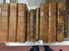 Antiquarian Books: Twelve leather bound books to include five volumes of Annual Registration from
