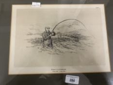 """Angling & Humorous Prints: """"A False Step"""", """"Look to your Rod"""" and """"Fishing in Sutherland"""" (3) Framed"""