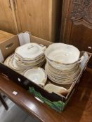 20th cent. Ceramics: W. H. Grundley & Co. 'Ivory' pattern part dinner service consisting of three