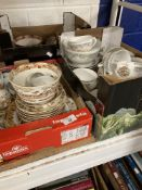 20th cent. Ceramics: Japonesque style porcelain, plus a German part tea service with putty