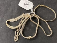 White Metal Jewellery: Five bracelets all stamped 925 and all test as silver. Total weight 66·9g.