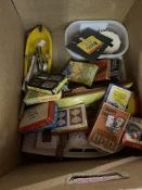 Toys & Games: One box including one wooden and two plastic sailing boats, croquet hoop markers,