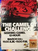 Motorsport: Sebring 1972 March 24 11am to 11pm, 12 hour. Camel GT Challenge colour promotional