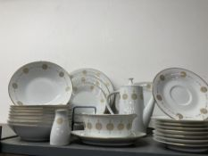 20th cent. Ceramics: Japanese Noritake 'Sovereign' eight place dinner service. Seventy pieces in