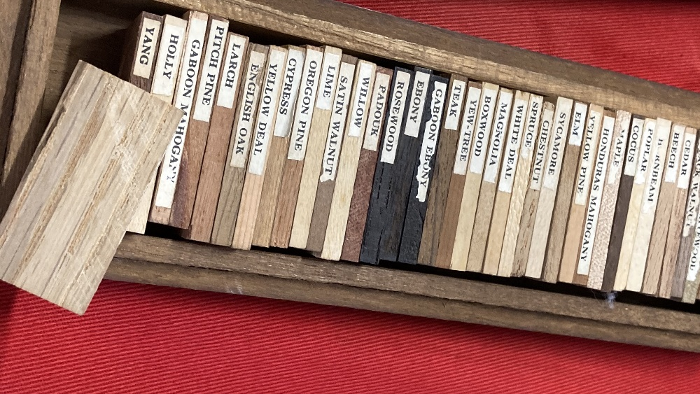 Cabinet Making: Lister & Co. The Lister collection of wood samples, forty two labelled examples of - Image 2 of 2
