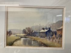 Trevor Chamberlain (Contemporary): Watercolours 'By the River at Ware', signed and dated '88