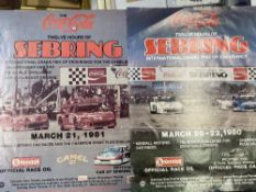 Motorsport: Sebring, 1980 and 1981 race posters (2). 20ins. x 26ins.