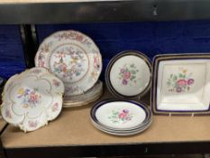 Late 19th/early 20th cent. Minton Chinese Tree No.1959, dinner plates x 3, Jlmeau Graf Henneberg