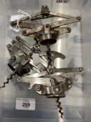 Wine Collectables/Corkscrews: 20th cent. French concertina corkscrews, one marked 'Ideal' Brevete,