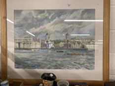 James Foot 1960-: 20th cent. English School watercolour on paper Naval College, Greenwich. Plus