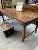 18th cent. Ash peg jointed farmhouse table . 68ins. x 31ins. x 30ins.