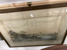 J.B. Pyne Attributed: Print, Lake Windermere, label on verso. Framed and glazed 20ins. x 13ins.